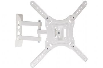"ProperAV Heavy Duty Swing Arm TV Bracket White 23''-55"" 15Deg Tilt Vesa 200x200"